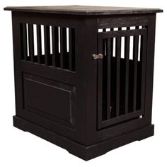 Dynamic Accents Amish Crafted Fortress End Table Pet Crate - 42