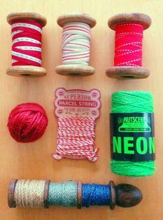 私の好きなもの。糸やリボンのラベルなど可愛くてつい買ってしまう