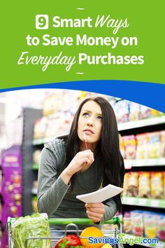 We compare prices and research options on large purchases. But what about small, everyday buys? Love these smart ways to save money on everyday purchases. Best Money Saving Tips, Money Tips, Saving Money, Make More Money, Ways To Save Money, Earn Money, Money Saving Challenge, Quitting Your Job, Frugal Living Tips