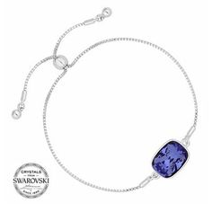 Jon Richard Purple crystal bracelet MADE WITH SWAROVSKI CRYSTALS | Debenhams