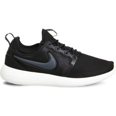 NIKE Roshe Two mesh trainers ($90) ❤ liked on Polyvore featuring shoes, sneakers, laced up shoes, nike footwear, lace up sneakers, laced sneakers and mesh sneakers