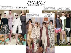 Key colors and themes FW 14-15 - 50s Glam, Sleep Walker and Moto Girl