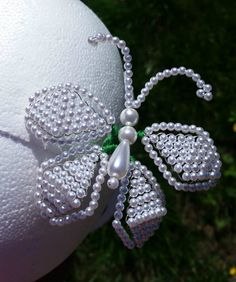 Tembleque Pollera Pearl Butterfly Tembleques White by QXPShop