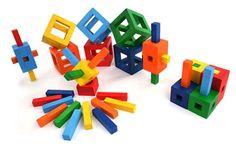 Twig wooden toy blocks