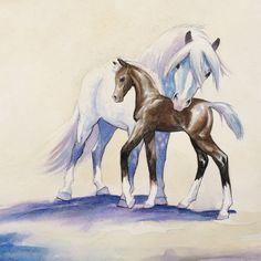 Watercolor Horse Art Watercolor Horse by SweetPeaAndGummyBear