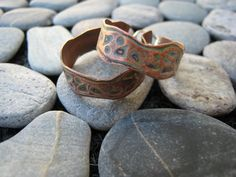 Sterling Silver and Etched Copper Hoops.  Handmade Jewelry by ZaZing