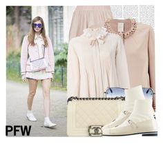 """""""Blogger Style: The Blonde Salad PFW day 8th"""" by megi32 ❤ liked on Polyvore featuring Rare London, Phase Eight, Chloé and Chanel"""