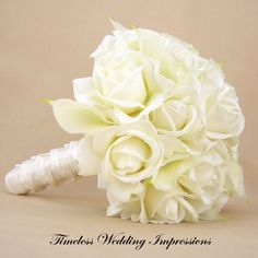 roses and cala lily bridal bouqets | White Bridal Bouquet Roses Calla Lilies | Wedding Ideas