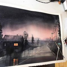 Watercolorist: @christian_koivumaa  #waterblog #акварель #aquarelle #painting #drawing #art #artist #artwork #painting #illustration #watercolor #aquarela