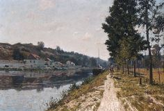 This painting, shown at the Paris Salon of 1897, depicts the river that, channeled into a canal, flows through Moret-sur-Loing, the town near Fontainebleau, France, where Picknell and his wife settled in 1890