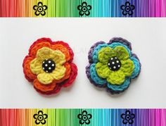Piper Posy (Layered Flower) - Crochet Pattern by EverLaughter