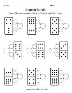 Domino Number Bonds Preschool Worksheets With Images Number