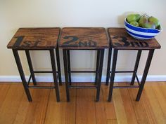 create stencil to paint chairs or stools