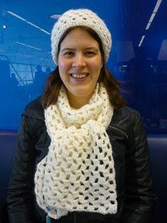 Tussen HAAKjes: Haakpatroon muts en sjaal