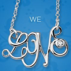 """Enamored Necklace Love is all you need. L. O V. E. with a crystal, in script on a delicate polished silver chain. 16-19"""" adjustable. New with tags and gift box! Boutique Jewelry Necklaces"""