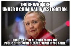 Even if cleared Mrs Clinton is too corrupt to get my vote. NOT THIS WOMAN. M.W. 12/9/15