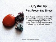 ✯ Crystal Tip: For Preventing Illness ✯ https://www.etsy.com/ca/shop/MagickalGoodies