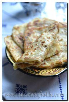 Galettes Marocaine farcie à la viande hachée (msemen farcie) - cuisine de Fadila