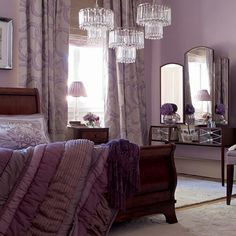 Mauve bedroom.  For more inspiration visit us on Facebook at http://facebook.com/nufloorsgrandeprairie