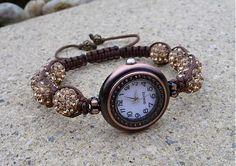 lukretia / Shamballa náramok s hodinkami