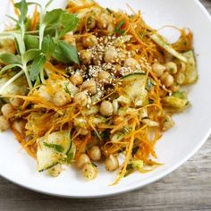 Carrot & Chickpea Salad with Zaatar Recipe