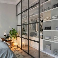 Home Interior Livingroom 71 Gorgeous Scandinavian Bedroom Decorating Ideas.Home Interior Livingroom 71 Gorgeous Scandinavian Bedroom Decorating Ideas Closet Bedroom, Home Bedroom, Bedroom Storage, Closet Wall, Bedroom Divider, Closet With Curtains, Room Dividers, Curtain Closet, Closet Space