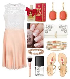 """Summer Outfit #66"" by liziekay ❤ liked on Polyvore featuring New Look, Monet, Lilly Pulitzer, Lipsy, Juicy Couture, Ally Fashion, LC Lauren Conrad and NARS Cosmetics"