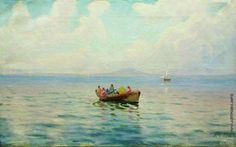 Lev Lagorio - Sea view from the boat (1900)