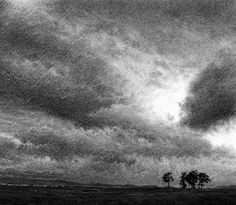 Read our exclusive interview with Sky Arts Landscape Artist of the Year 2016 Heat Three Winner Philip Edwards as he discusses the hands the soft textured mediums in his work and how he achieves a sense of atmosphere within landscapes. Tree Drawings Pencil, Dark Drawings, Amazing Drawings, Charcoal Drawings, Charcoal Sketch, Charcoal Art, Landscape Drawings, Abstract Landscape, Black And White Art Drawing