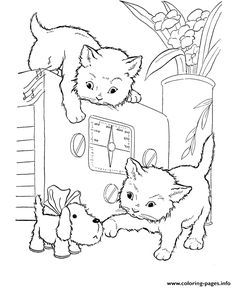 cats playing on a oven animal coloring pages printable and coloring book to print for free find more coloring pages online for kids and adults of cats