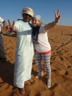 Funtours - Desert Safari Dubai - Dubai - Reviews of Funtours - Desert Safari Dubai - TripAdvisor  Driver Noor with our guest from Italy !!