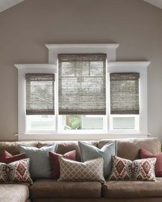 Natural Woven Shades made out of Reed, bamboo, grass, paper and jute