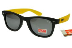 Ray-Ban Wayfarer 1878 Black Yellow Frame Gray Lens RB1027