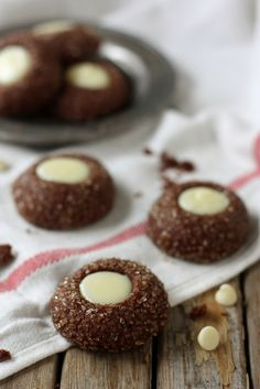 Chocolate Mint Thumbprint Cookies