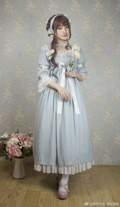 Новости Mori Fashion, Lolita Fashion, Cute Fashion, Lovely Dresses, Vintage Dresses, Estilo Lolita, Fairytale Fashion, Period Outfit, Estilo Retro