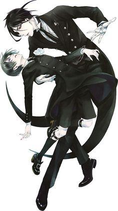 Ciel and Sebastian - Black Butler - Kuroshitsuji Ciel E, Sebastian X Ciel, Black Butler Sebastian, Hot Anime, Anime Guys, Manga Anime, Ciel Phantomhive, Black Butler Wallpaper, Black Butler Manga