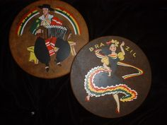 Old Brazil Brasil Coaster Set of Two for Table So Charming by EthnicStuff on Etsy https://www.etsy.com/listing/189622031/old-brazil-brasil-coaster-set-of-two-for