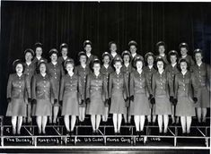 1945 photograph of Dalles Hospital Class - US Cadet Nurse Corp.  (Pierce Library)