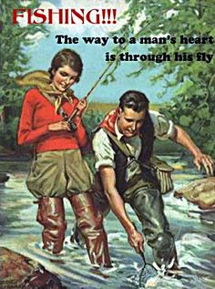 fly fishing quotes | retro vintage image with funny quotes and sayings