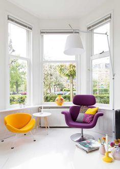 Un salón-comedor lleno de luz y color   Estilo Escandinavo