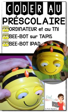 Prof Numéric: Bee-Bot pour coder au préscolaire Numbers Kindergarten, Math Numbers, Kindergarten Classroom, Bee Bop, Alphabet, Classroom Language, Number Sense, Stem Activities, Future Classroom
