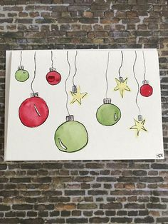 Easy Christmas Cards for Kids to Make on a Budget – Ball Ornaments - Christmas Crafts for Kids Simple Christmas Cards, Homemade Christmas Cards, Diy Christmas Gifts, Christmas Art, Handmade Christmas, Homemade Cards, Holiday Cards, Christmas Ornaments, Easy Christmas Drawings