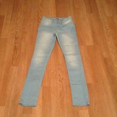 Light blue jeans Faded style at back bottoms. Size 14 kids. Never worn. No tags. YMI Jeans Skinny