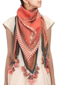 ♔ How to wear a Shawl / Scarf Designer Scarves, Designer Dresses, Short Frocks, Scarf Dress, Scarf Design, How To Wear Scarves, Western Dresses, Scarf Hairstyles, Indian Designer Wear