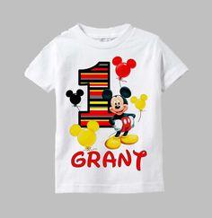 Mickey Mouse Birthday Shirt Mickey Mouse Shirt by funfashionsetc