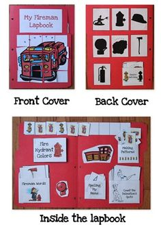Fireman Lapbook for preschool and kindergarten along with learning ideas
