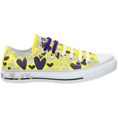 436dac5bbb291a Loja VIRUS Tenis All Star Converse   Tênis Converse All Star Print Love  Hearts Ox Amarelo