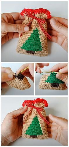 Crochet Christmas Mini Bag - Crochet Kingdom
