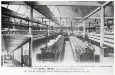 Les ateliers de la filature Le Blan. (archives association La Machinerie ou mairie de Mantes-la-Ville)