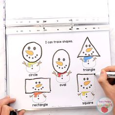 This kindergarten and preschool winter binder activity book is packed with interactive winter themed basic skills learning activities. enfant Printable Winter Binder For Preschool And Kindergarten Weather Activities Preschool, Educational Activities For Preschoolers, Kindergarten Learning, Preschool Learning Activities, Book Activities, Preschool Crafts, Toddler Activities, Preschool Winter, Preschool Farm Theme